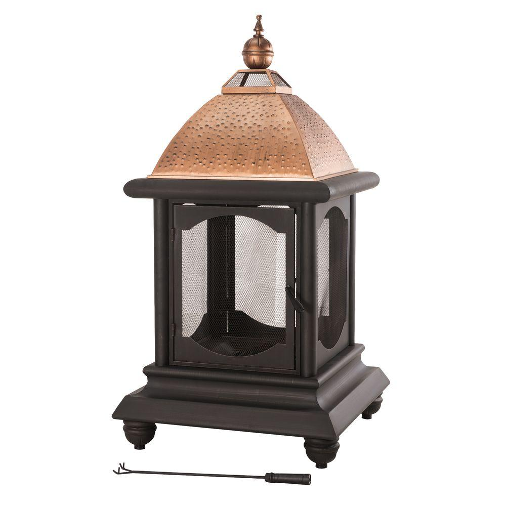 Sunjoy St. Peter 55.5 in. Steel Outdoor Fire Place