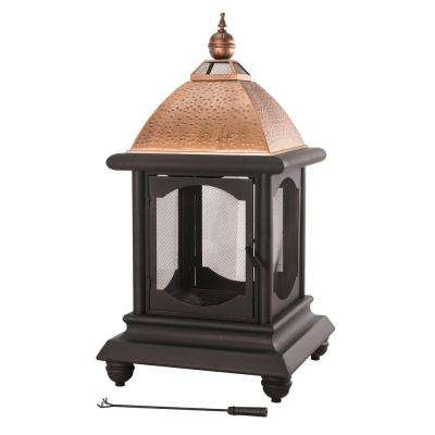 St. Peter 55.5 in. Steel Outdoor Fire Place