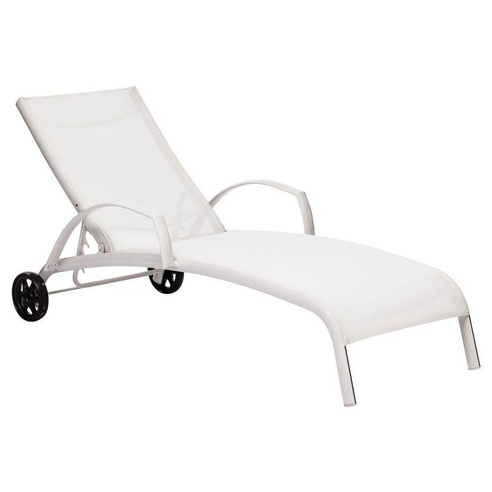 ZUO Casam White Patio Chaise Lounge
