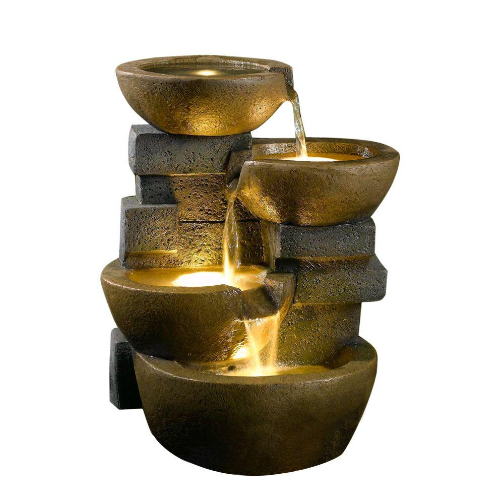 Fountain Cellar Pots Water With Led Light