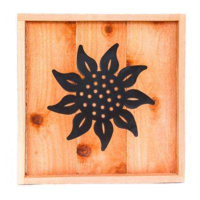 18 in. x 18 in. Wood Wall Art with Sunflower Design