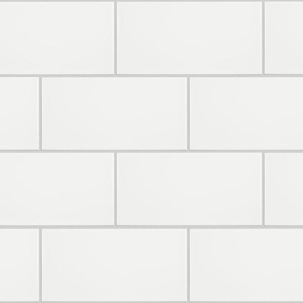 Projectos 7-3/4 in. x 3-7/8 in. Neve Matte Ceramic Subway Floor and Wall Subway Tile (11.46 sq. ft. / case)