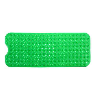 16 in. x 39 in. Extra Long Bath Mat in Green