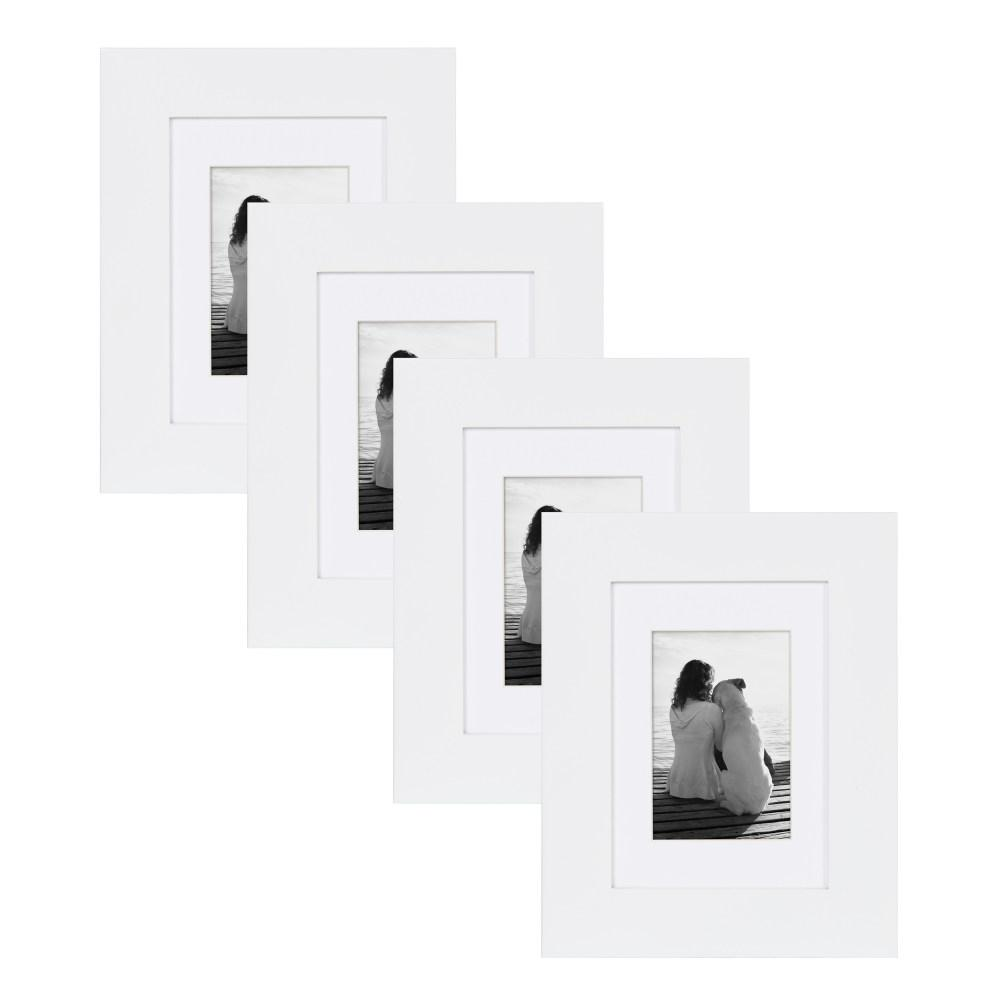 DesignOvation Museum 5 in. x 7 in. Matted to 3.5 in. x 5 in. White ...