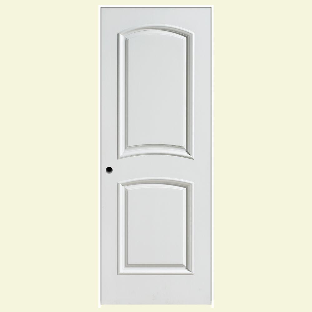 Masonite 36 in. x 80 in. Palazzo Bellagio 2-Panel Arch Top Solid-Core Smooth Primed Composite Single Prehung Interior Door