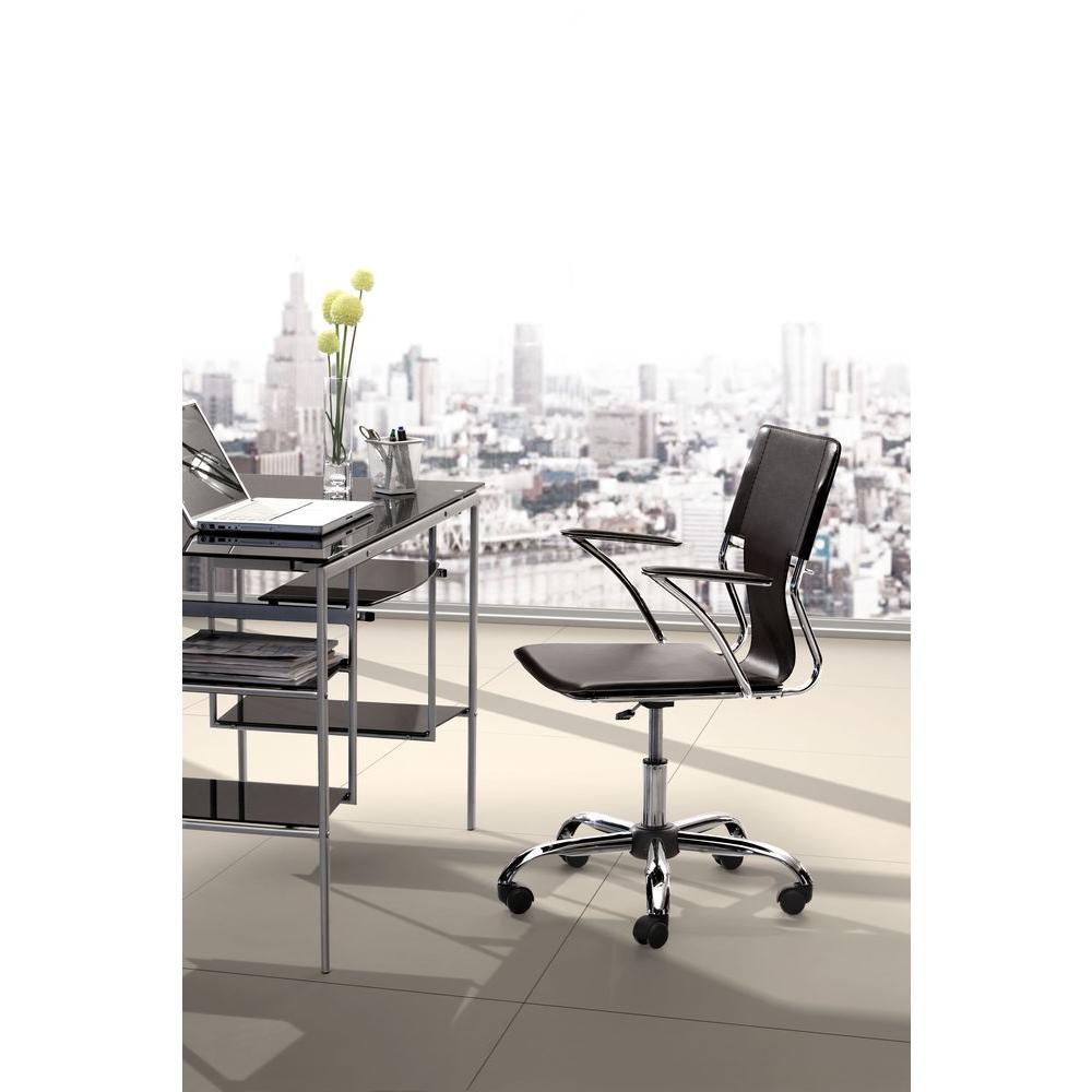 Trafico Espresso Leatherette Office Chair