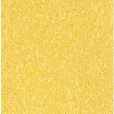 Take Home Sample - Imperial Texture VCT Lemon Yellow Standard Excelon Commercial Vinyl Tile - 6 in. x 6 in.