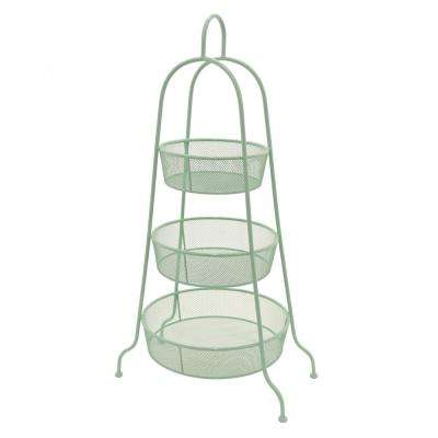 15.75 in. x 15.75 in. 3-Tier Storage Rack in Green