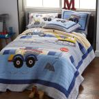 Company Kids by The Company Store Construction Zone Cotton Multi Twin Quilt