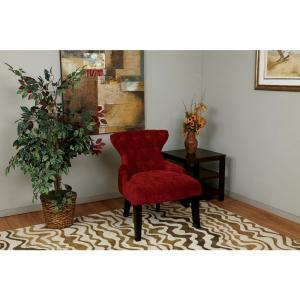 Ave Six Curves Vintage Grenadine Accent Chair by Ave Six