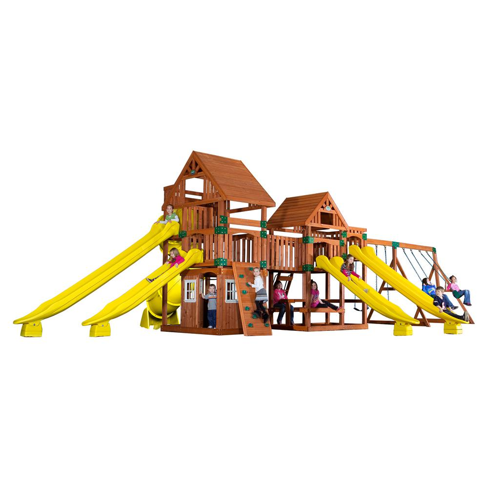 backyard discovery safari all cedar playset 54303com the home depot