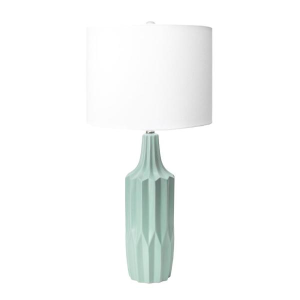 Nuloom Salinas 30 In Blue Contemporary Table Lamp With Shade Npt48aa The Home Depot