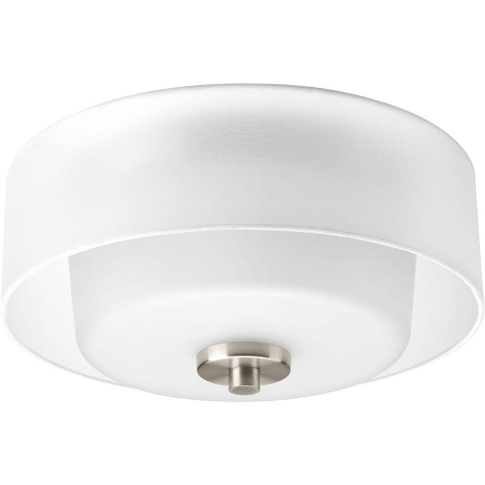Progress Lighting Invite Collection 2 Light Brushed Nickel Flushmount