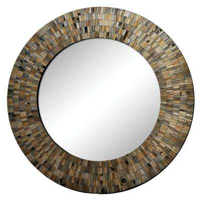 Aventurine 24 in. x 24 in. Framed Wall Mirror