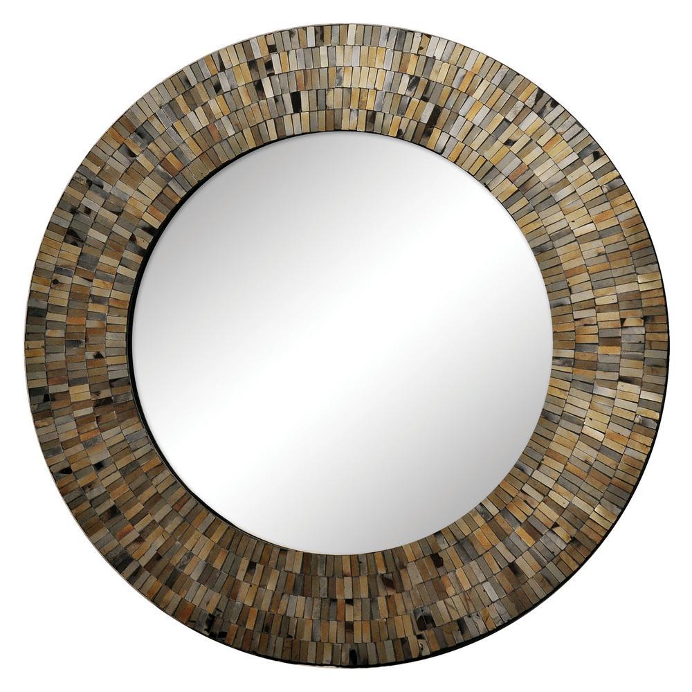 Aventurine 24 in. x 24 in. Framed Wall Mirror