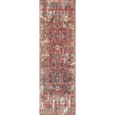 Farley Medallion Fringe Rust 2 ft. 6 in. x 8 ft. Runner Rug
