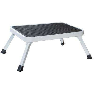 Enjoyable 1 Step Aluminum Folding Mini Step Stool With 330 Lbs Load Capacity Caraccident5 Cool Chair Designs And Ideas Caraccident5Info