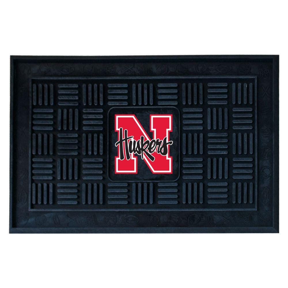 University of Nebraska 18 in. x 30 in. Door Mat