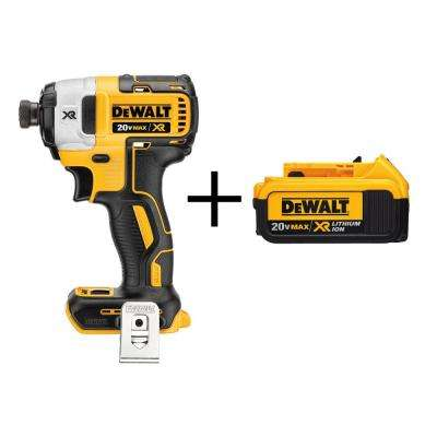 20-Volt MAX XR Lithium-Ion Cordless Brushless 3-Speed 1/4 in. Impact Driver (Tool-Only) with Free XR Battery Pack 4Ah
