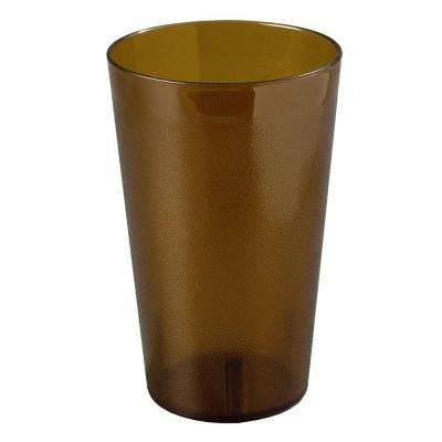 32 oz. SAN Plastic Stackable Tumbler in Amber (Case of 48)