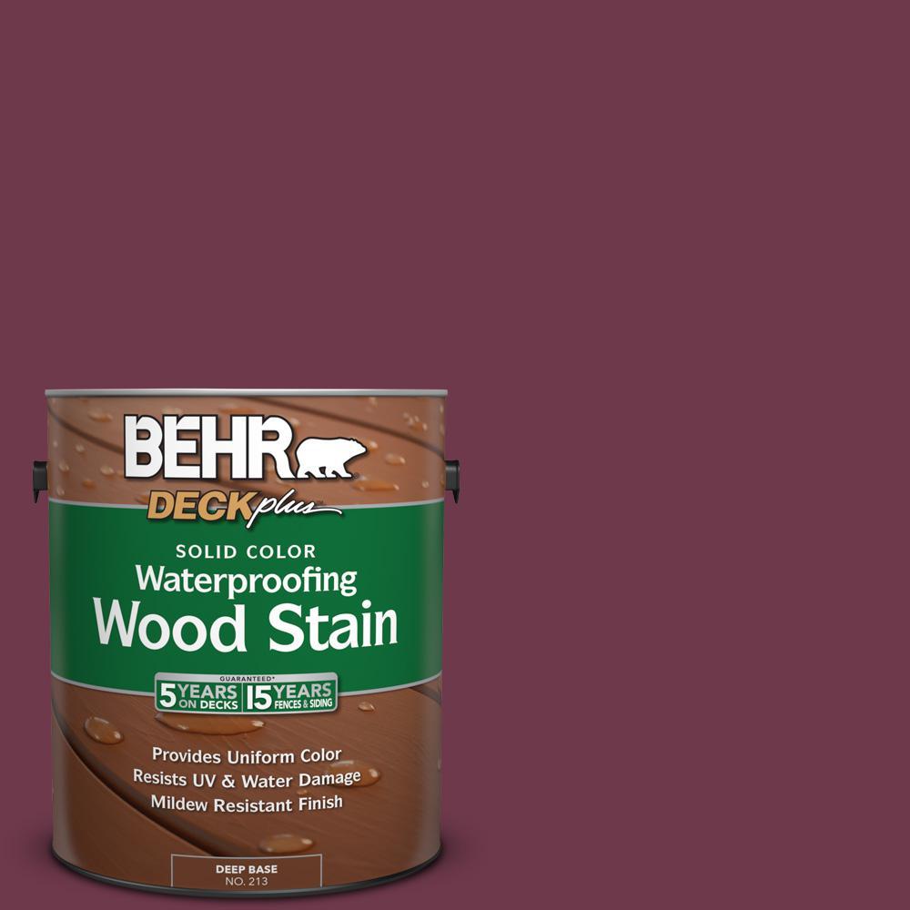 1 gal. #PPU1-14 Formal Maroon Solid Color Waterproofing Wood Stain