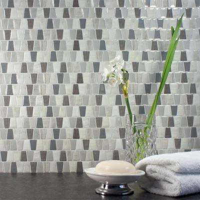 Cavalis Tenero Approximately 3 in. W x 3 in. H Taupe and Gray Decorative Mosaic Wall Tile Backsplash Sample