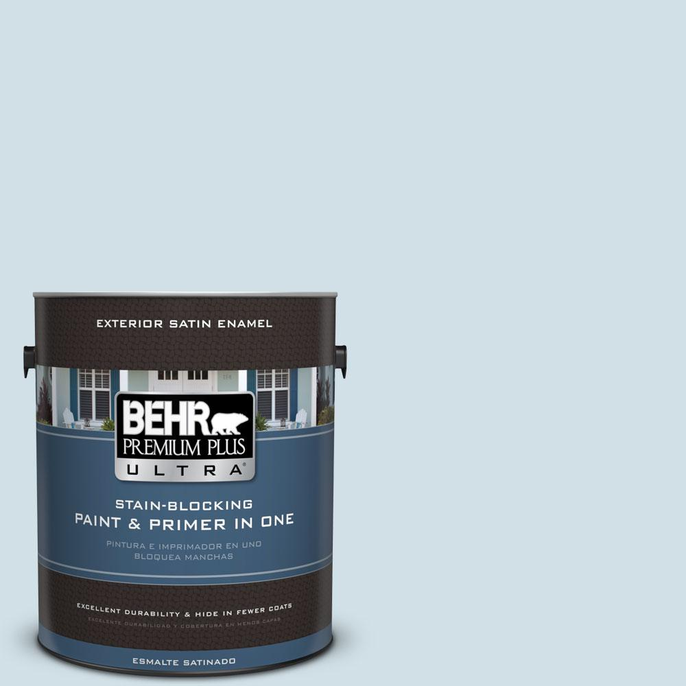 BEHR Premium Plus Ultra 1-gal. #530E-2 Cool Sky Satin Enamel Exterior Paint