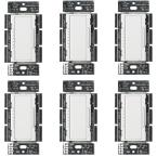 Maestro LED+ Dimmer Switch for Dimmable LED, Halogen & Incandescent Bulbs, Single-Pole or Multi-Location, White (6-Pack)