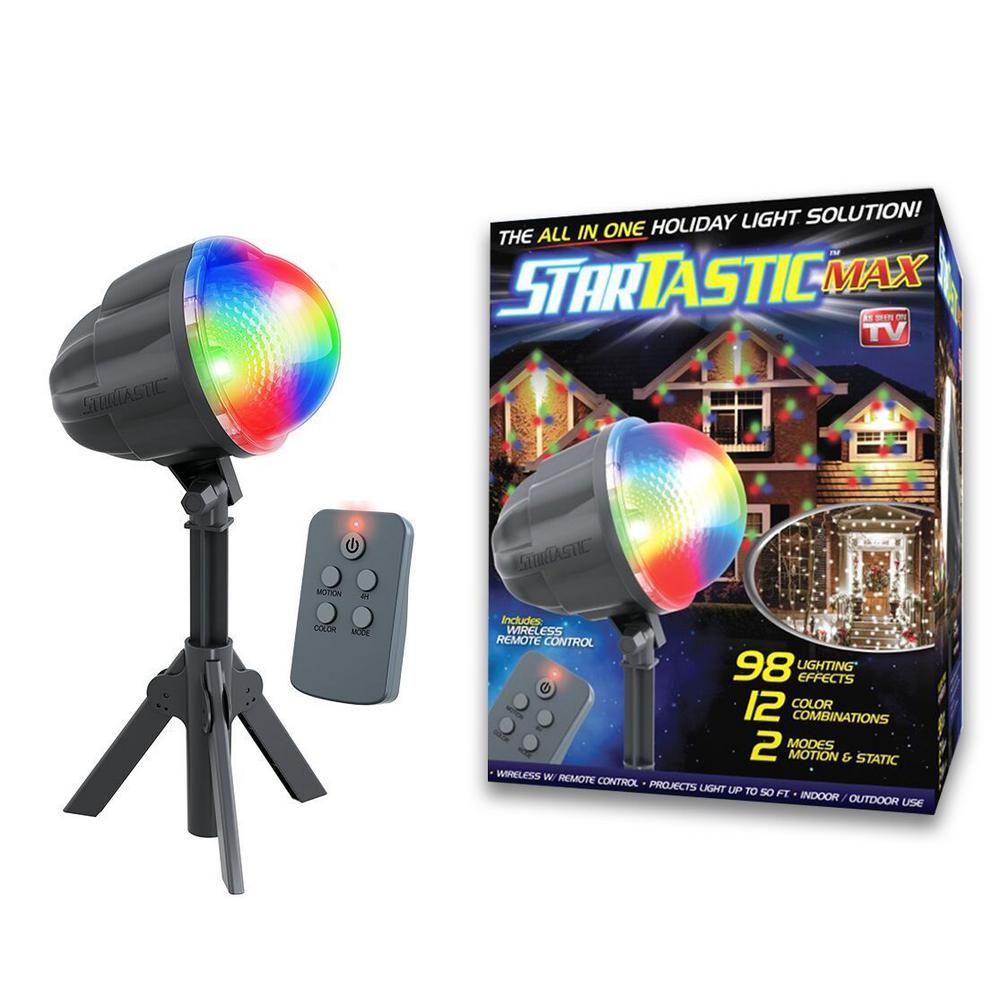 As Seen on TV Startastic Max 12 Color Combinations Remote-Controlled Outdoor/Indoor Motion Laser Light Projector