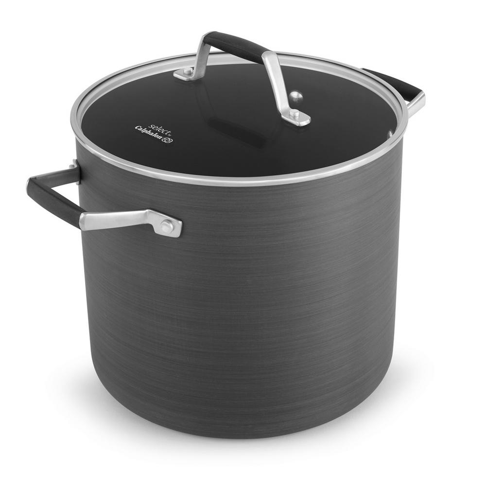 8 Qt. Select Hard Anodized Nonstick Stock Pot with Cover