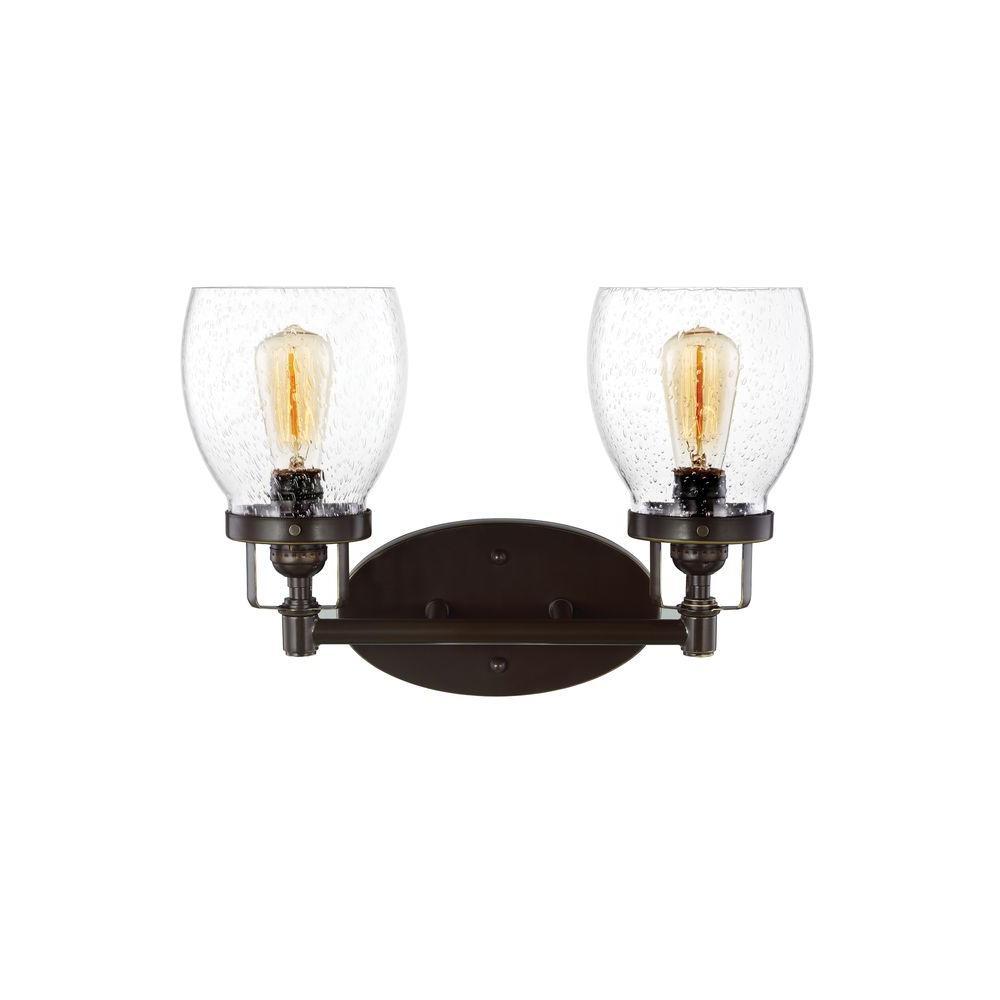 Belton 15 in. W. 2-Light Heirloom Bronze Vanity Light