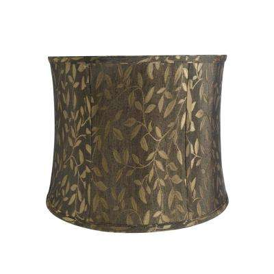 14 in. x 11 in. Brown Bell Lamp Shade