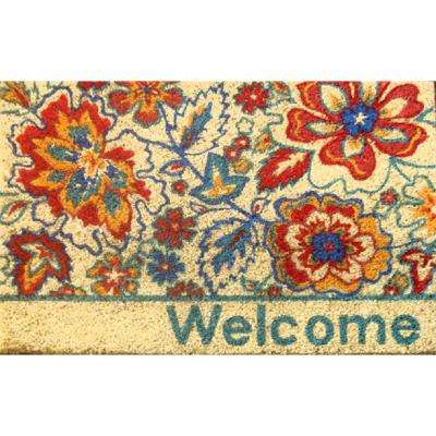 Fiesta Multi 18 in. x 28 in. Coir Outdoor Mat