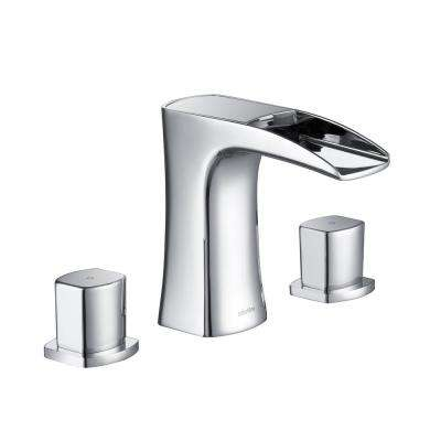 Cascade 8 in. Widespread 3- Hole 2-Handle 1.2 GPM Watersense Bathroom Faucet in Chrome
