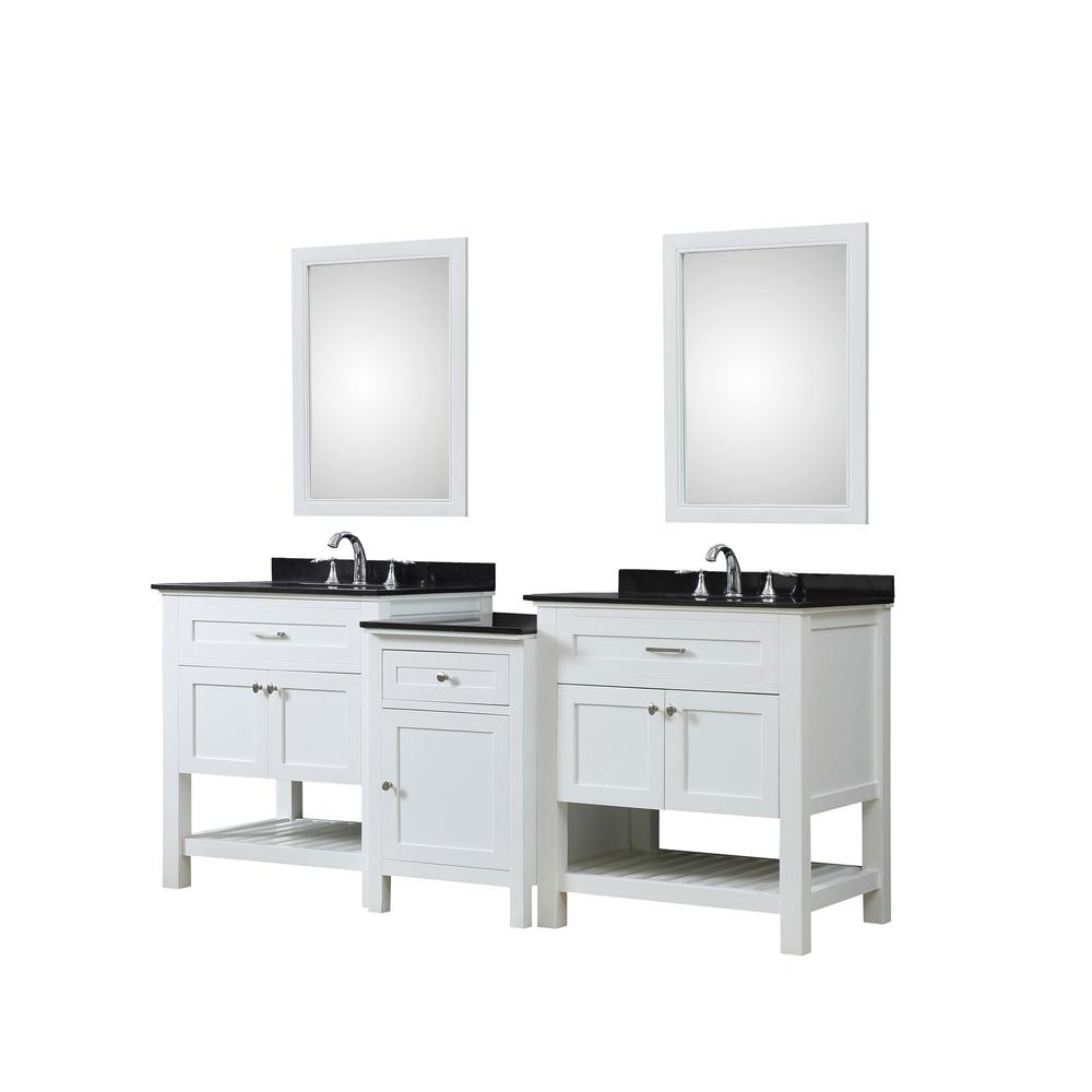 Direct Vanity Sink Preswick Hybrid Bath And Makeup 82 In W White With