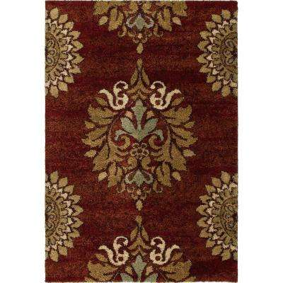 Romantic Red 5 ft. 3 in. x 7 ft. 6 in. Indoor Area Rug