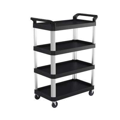 4-Shelf Plastic Wheeled Service Cart
