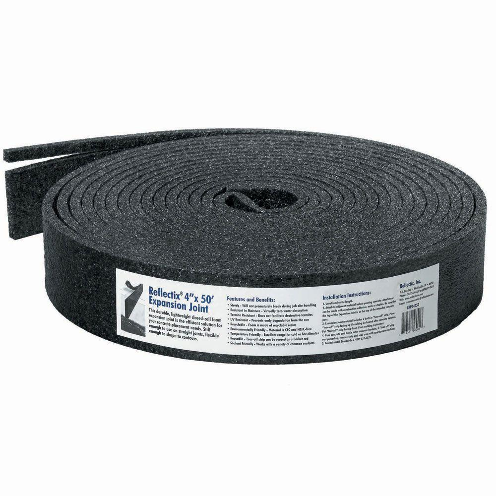 Reflectix 4 in. x 50 ft. Expansion Joint for Concrete-EXP04050 - The ...