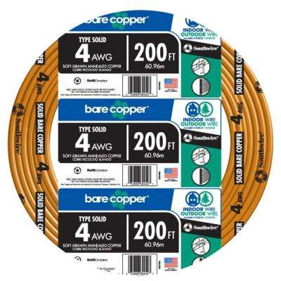 200 ft. 4-Gauge Solid SD Bare Copper Grounding Wire