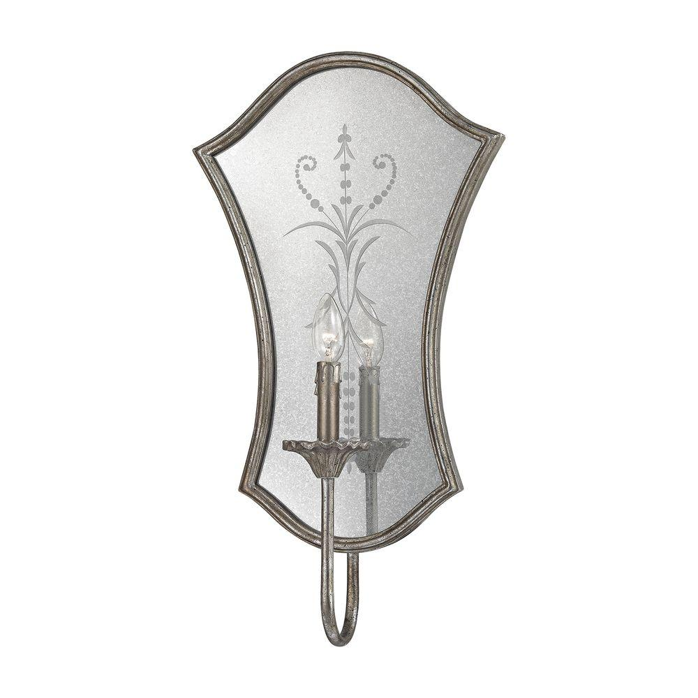 Titan Lighting Gruyere 1-Light Antique Silver Wall Sconce-TN-998392 - The Home Depot