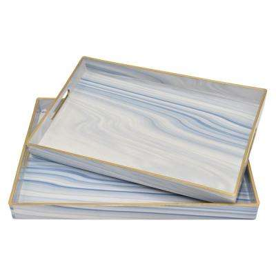 1.5 in. Blue Trays (Set of 2)