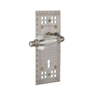 Craftsman Plate with Keyhole 2-3/4 in. Backset Satin Nickel Passage Hall/Closet Parlor Lever