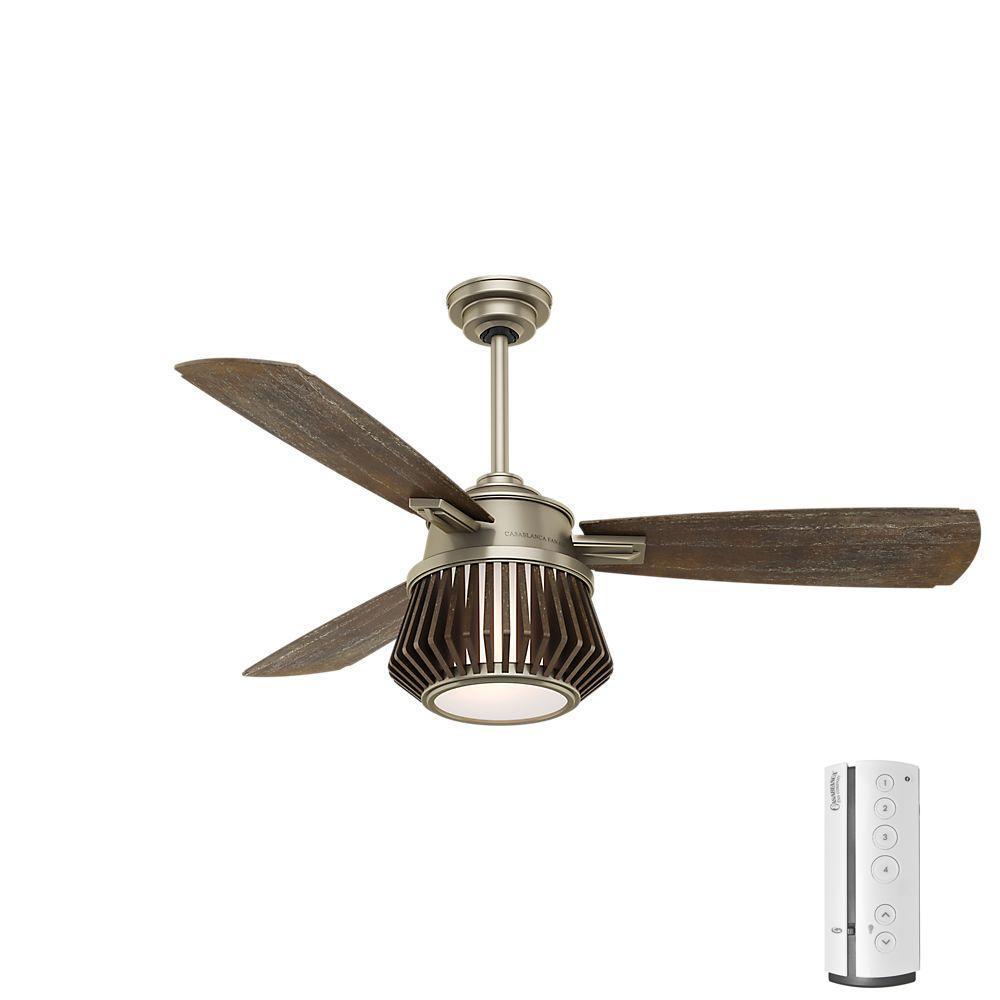 LED Indoor Metallic Birch Ceiling Fan ...