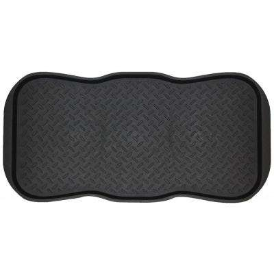 Black Colossal 19 in. x 39 in. Rubber Boot Tray