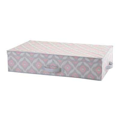 28 in. x 16 in. x 6 in. Under the Bed Storage Box in Ikat