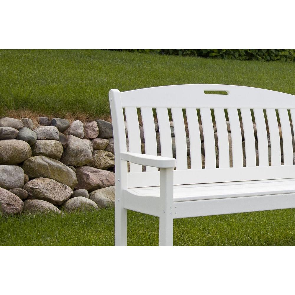 Admirable Polywood Nautical 48 In Green Plastic Outdoor Patio Bench Unemploymentrelief Wooden Chair Designs For Living Room Unemploymentrelieforg