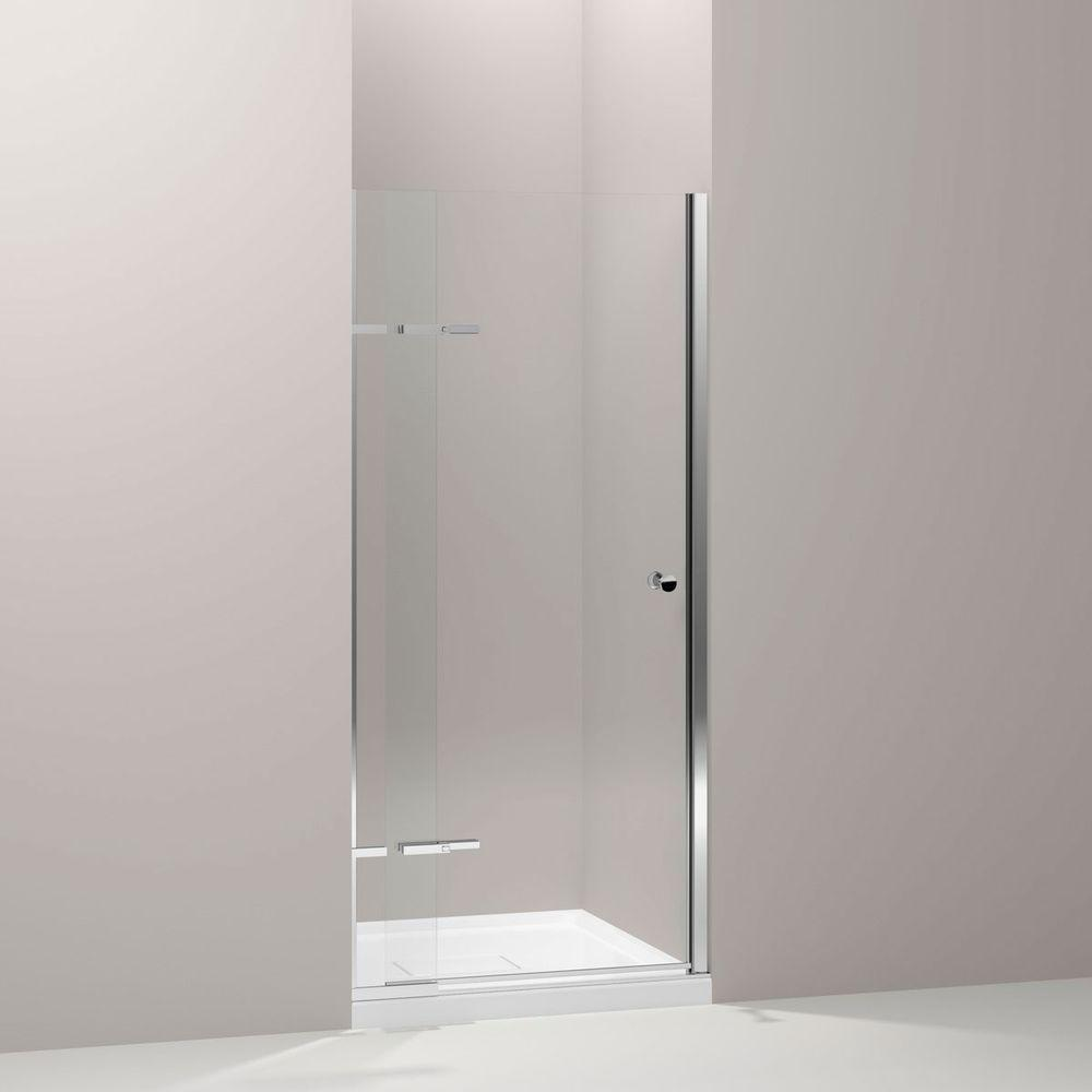 Underline 36 in. x 69-1/2 in. Frameless Pivot Shower Door in