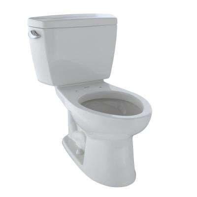 Drake ADA Compliant 2-Piece 1.28 GPF Single Flush Elongated Toilet with Insulated Tank in Colonial White
