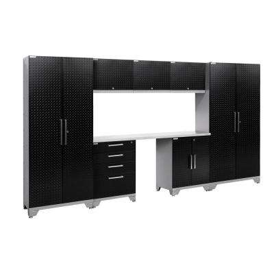 Performance Diamond Plate 2.0 72 in. H x 132 in. W x 18 in. D Garage Cabinet Set in Black (8-Piece)