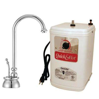 Calorah Single-Handle Hot Water Dispenser Faucet with Tank in Polished Chrome